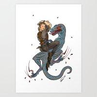 Jurassic World Pin-Ups ~ Owen Grady Art Print
