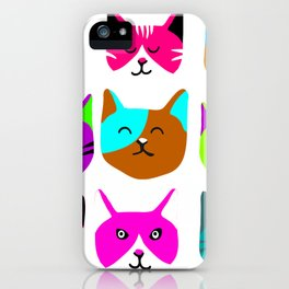 Cat heads iPhone Case