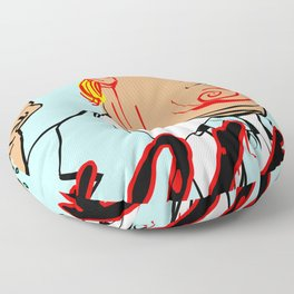 Year of the Cock Floor Pillow