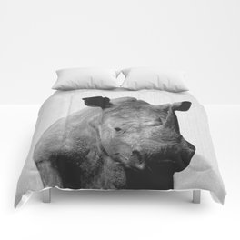 Rhino - Black & White Comforters