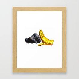 Stop violence Framed Art Print