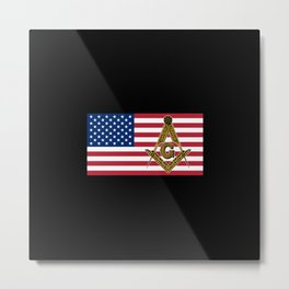 Freemason Flag Metal Print