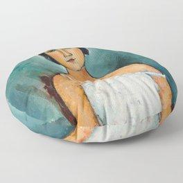 Egon Schiele Houses With Laundry Floor Pillow