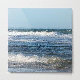 Waves and distant headlands in Queensland, Australia Metal Print