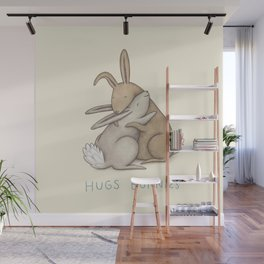 Hugs Bunnies Wall Mural