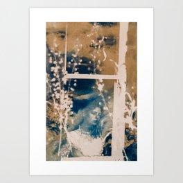 Girl in the window.  Art Print