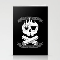 camp Stationery Cards featuring Pirate Camp by WanderingBert / David Creighton-Pester