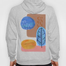 Coastal Chic Feather Design Pink Gold and Blue Hoody