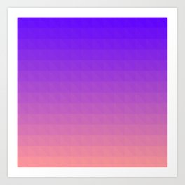 Pink and Purple Ombre Art Print