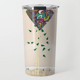 Spaghetti Owl (Diptych) Travel Mug