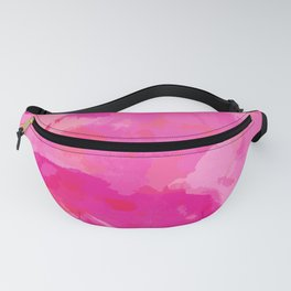 pink abstract floral pattern Fanny Pack