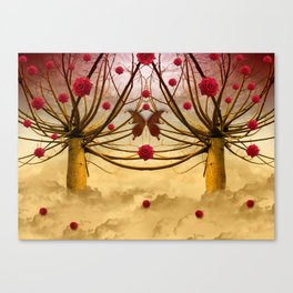 Once upon a time, and far away, Red Roses grew to the Willows... Canvas Print