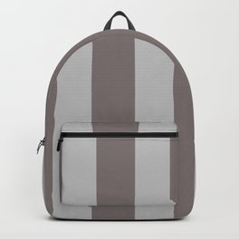 Warm Gray Stripes Backpack