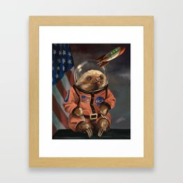 The Sloth Space Cadet Framed Art Print