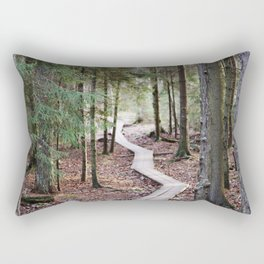 Duckboards to deep forest Rectangular Pillow