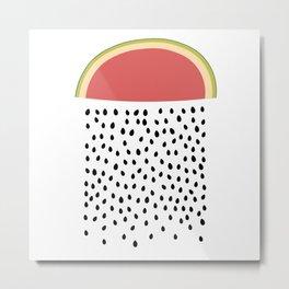 It's Raining Watermelon Metal Print