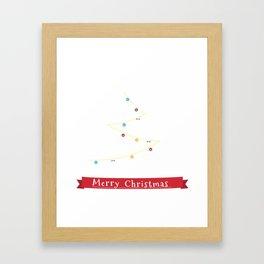 Border Collie Christmas Tree  Framed Art Print