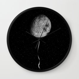 Moon balloon Wall Clock