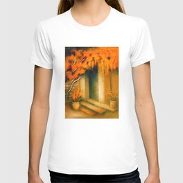 Terrace in the Light - Mediterranean Paintings T-shirt