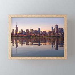 Panorama of the City skyline of Chicago Framed Mini Art Print