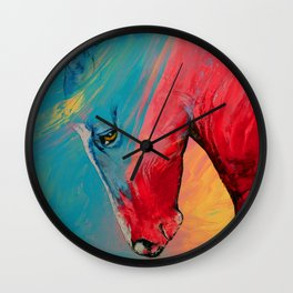 Painted Horse Wall Clock