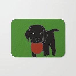 Black Lab Puppy Bath Mat