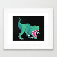 dinosaur Framed Art Prints featuring Dinosaur by Kalisch illustrations