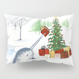 Christmas Narwhal Pillow Sham