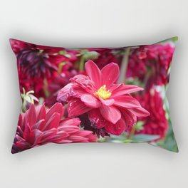 Blooming Red: Imperfectly Perfect Rectangular Pillow
