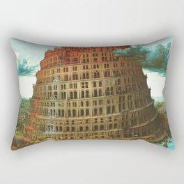 "Pieter Bruegel (also Brueghel or Breughel) the Elder ""The Tower of Babel (Rotterdam)"" Rectangular Pillow"