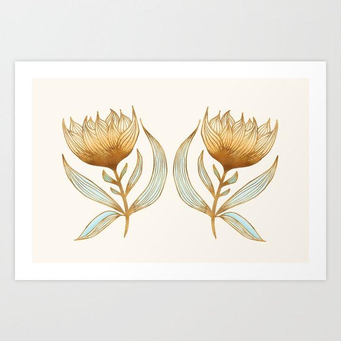 Bohemian Sunflowers II Art Print