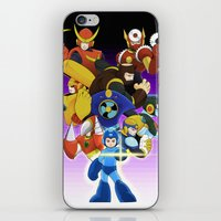 megaman iPhone & iPod Skins featuring Megaman 2 by Patrick Towers