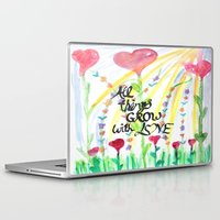 love quotes Laptop & iPad Skins featuring Love Quotes by Just Creative Julia