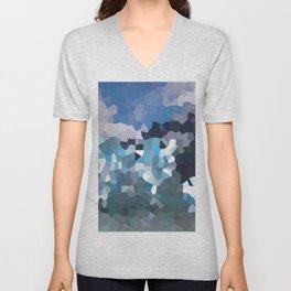 Cubistic icebergs Unisex V-Neck