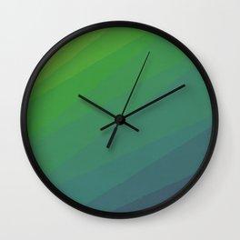 Shades of Deep Water Wall Clock