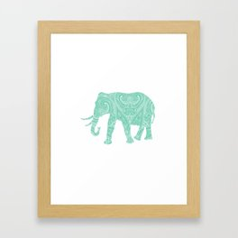 Mandala Elephant 6-22 Framed Art Print