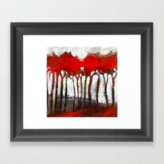 Red trees Framed Art Print