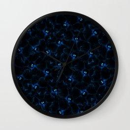 Black Magic Petunias Wall Clock