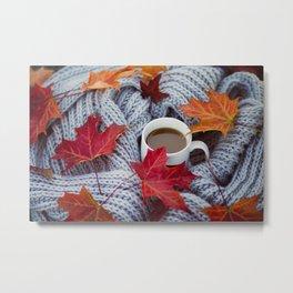 autumn coffee Metal Print