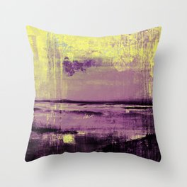 Yellow Color Patches Throw Pillow