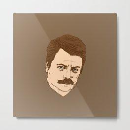 Ron Swanson Metal Print