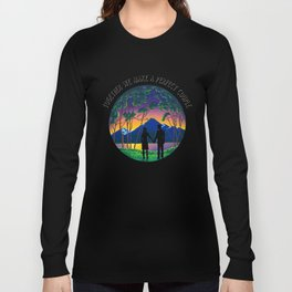 Romantic Couple Silhouette Long Sleeve T-shirt