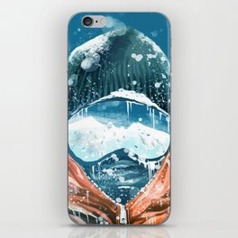 climber in the everest iPhone Skin