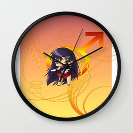 Sailor Mars Wall Clock