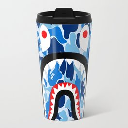 bape blue Travel Mug