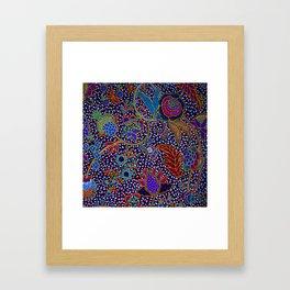 Tahitian Island Style Exotic Pattern Framed Art Print