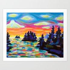 Landscape With Saucers Art Print