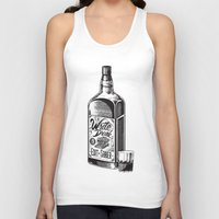 hemingway Tank Tops featuring Write Drunk. Edit Sober by Ryan Huddle House of H