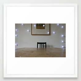 Lights and Chair Framed Art Print