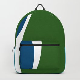 Turquoise Basil Cerulean Waves Backpack